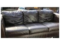 Luxury 3 seater leather sofa