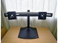 """Ergotron DS100 Horizontal Dual-Monitor Desk Stand For Up to 24"""" Monitors"""