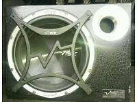 "Vibe cbr 12"" subwoofer loud powerfull bass with amplifier.. loud bass powerfull"