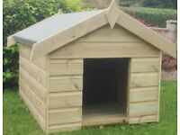 4x3 Apex Dog Kennel - FULLY T&G - Pressure treated timber- 10 year anti rot