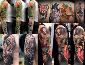 Professional, clean, high quality tattoo studio in Nottingham