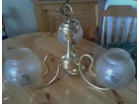 BEAUTIFUL CEILING LAMP (3 arms) in top condition.Bargain at £20.in superb condition.