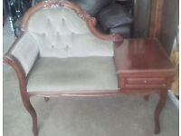 Chaise lounge telephone table