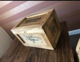 Handmade Christmas Eve crate style box