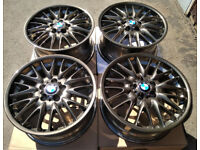 R18 Genuine OEM BMW E46 Msport staggered Alloys MV1 5x120 M3 Styling 72 OZ BBS