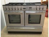 Rangemaster toledo xt 110cm dual fuel 5 burners 2 ovens range cooker