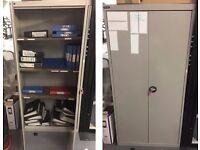 Sheer Pride Working Used Steel Cupboard (46cm x 90cm x 183 cm) Storage 3 Shelves (39cm x 90cm)