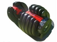 Adjustable dumbbell gym weights - home fitness equipment 24kg
