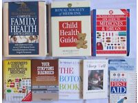 9 BOOKS medical guides family child health encyclopedia minor injury first aid sleep well help