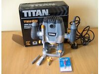 Router for Worktops - 1/2 inch Titan Router complete with 2 drills for worktops and all accessories.