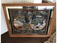 1970s Globe Of The World Wall Mirror