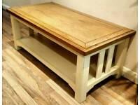 Rustic Farmhouse Oak Coffee Table & TV table