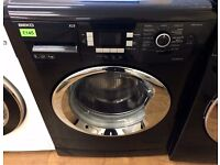 Beko - BLACK & CHROME , 9KG , 1200 , Digital , XL9 WASHER + 3 Months Guarantee + FREE LOCAL DELIVERY
