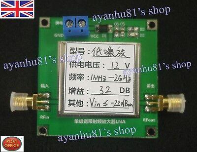 0.01-2000MHz 2Ghz 32dB LNA RF Broadband Low Noise Amplifier Module HF VHF...