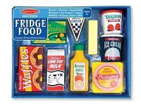 NEW boxed Melissa and Doug wooden fridge food