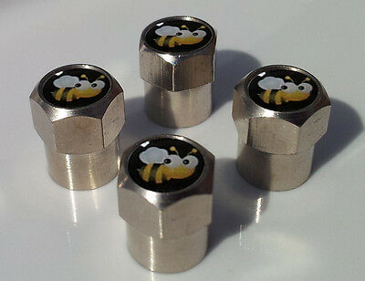 CUTE BUMBLE BEE ALUMINIUM TYRE VALVE CAPS ALLOY FOR CAR TIRE WHEEL