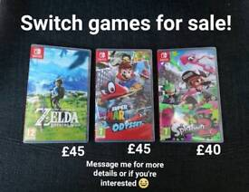 NINTENDO SWITCH Games, Great Condition