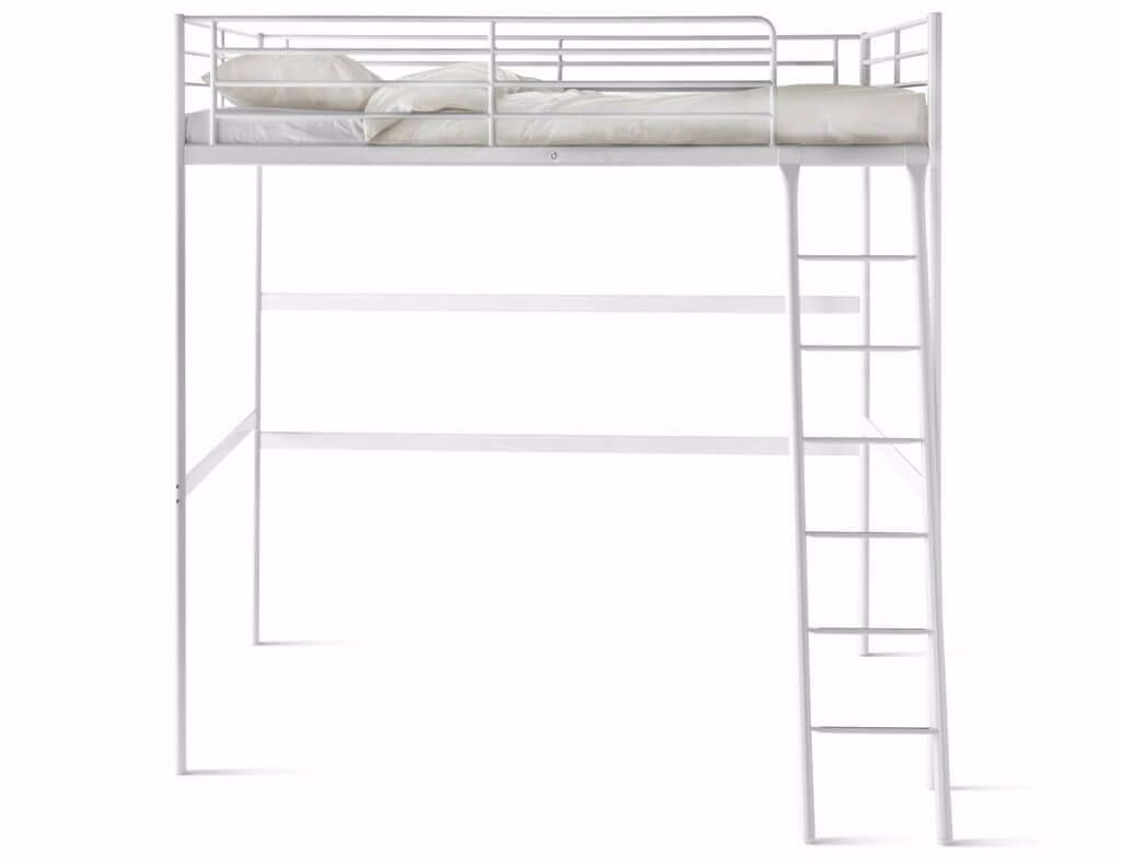 Ikea Tromso Loft Bed - Double, White with Mattress | in Norwood ...
