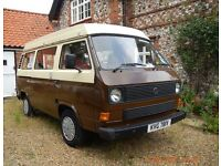 Lovely VW Camper Van in Pullman brown and cream.