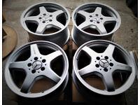 R17 Genuine OEM Mercedes AMG Alloy wheels - Staggered ( BBS OZ )