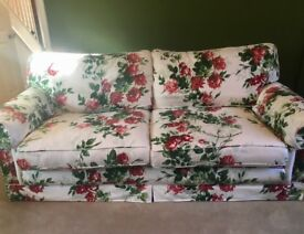 Large feather filled Handmade sofa in Ralph Lauren floral cotton print