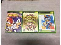 3 Original Xbox Games Works on 360 Too Rare Sonic,Super Monkey Ball