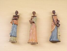 Three African Masai figures all different. Brand new with boxes.