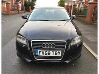 2009 Audi A3 1.9TDI E Sportback 5dr £30 TAX A YEAR 1 OWNER BLACK DIESEL 3 MONTHS WARRANTY