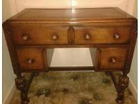 LADIES WRITING DESK LEATHER TOP BEAUTIFUL AND LOVELY CONDITION