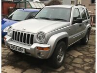 2003 Jeep Cherokee Limited CRD 2.8 auto, reduced, swap px