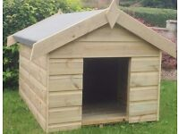 NEW 3FT x 2FT Wooden Apex Dog Kennel **PRESSURE TREATED T&G** 10 year anti rot guarantee.