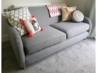 Sofa NEW 3 Seater from MADE Helena Collection Textured Fabric - Light Grey Living Room Furniture