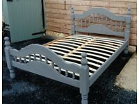 double 4ft6 pine bed