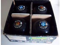HENSELITE MAESTRO LAWN BOWLS SIZE 6 HEAVY BLACK C48-6Y IBB-02 IN ORIGINAL BOX - RARE