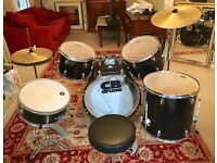 Drum Set - Excellent Condition. 5 drums, 2 cymbals and stool