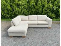 FREE DELIVERY 🚚 JOHN LEWIS BEIGE FABRIC CORNER SOFA GREAT CONDITION