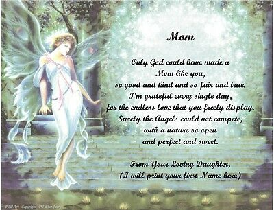 Christmas/Birthday Gift 4 Mom from Daughter Personalized Poem #4(See 12 choices) - Mom Birthday Poem