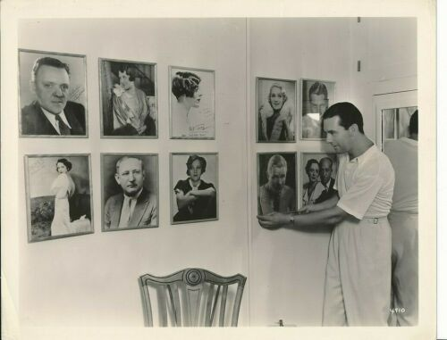 BEN LYON Original CANDID Dressing Room Vintage 1930s MGM Studio Photo