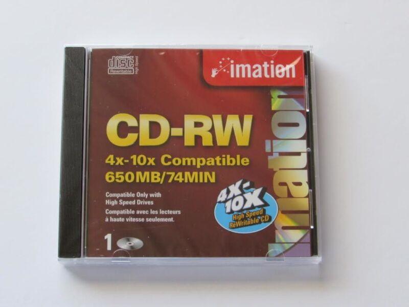 IMATION HIGH SPEED CD-RW REWRITABLE MEDIA 650 MB 74 MIN 4X10