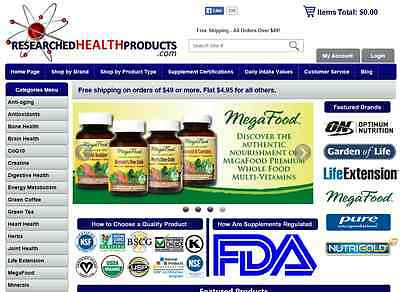 Online Supplement Retail Company with Business Website for - Company Website