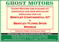 Kent Sales & Service Speclists for all  Rolls Royce & Bentley Motor Cars