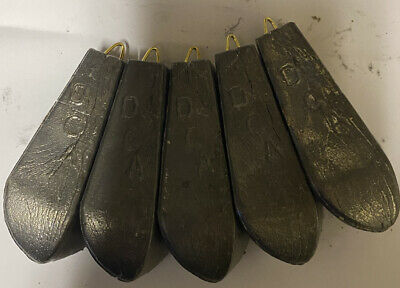 5 X 12oz 3/4 Pound Dca Bo Pedo Boat / Sea Fishing Weights