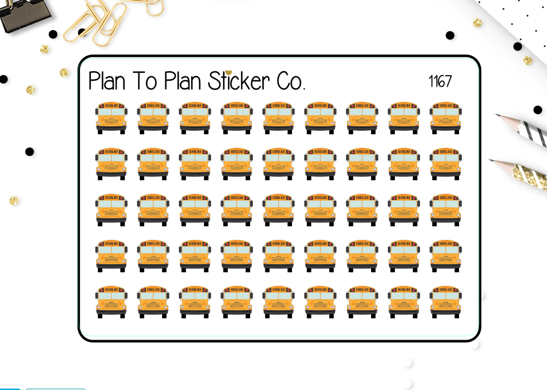 1167~~School Bus Planner Stickers.