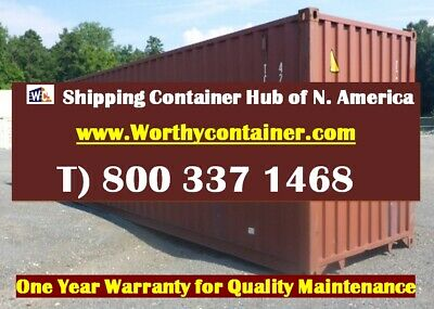 40 Cargo Worthy Shipping Container 40ft Used Container - Jacksonville Fl