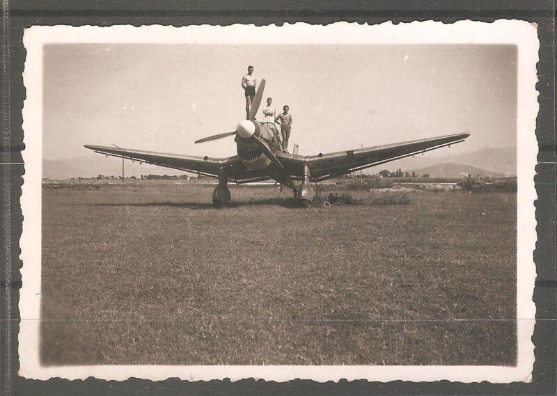 RARE Bulgaria airplane photo of German Junkers JU87 Stuka aircraft in Macedonia
