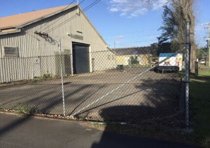 Large fenced compound at Mayfield East for lease