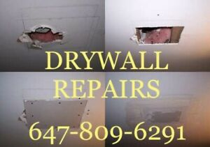 All Drywall Repairs~ Damage Hole, Water Leak, Smooth, Removal
