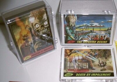 MARS ATTACKS topps '12 HERITAGE 85-CARD BASE 3d SET+DELETED SCENES+NEW UNIVERSE