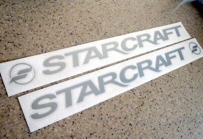 "Starcraft Vintage Boat Trailer Decal 18"" 2-PAK FREE SHIP + FREE Fish Decal!"