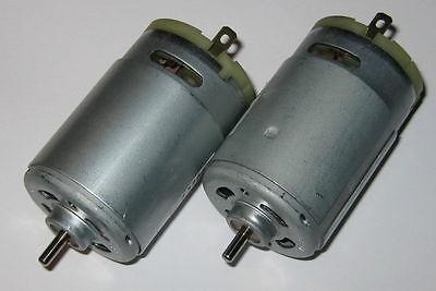 2 X Johnson Electric 12v Motor - Traxxas Rc - Power Wheels - Fan Cooled Dc Motor